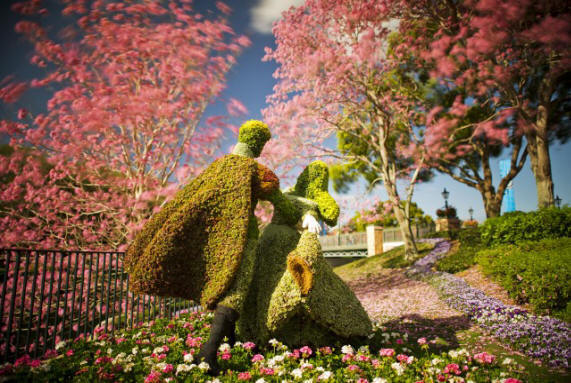 Walt Disney World 20th Epcot International Flower & Garden Festival March 6-May 19 Debuts Illuminated Blooms and 'Garden Marketplace' Dining