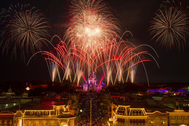 Walt Disney World Paints the Sky Red, White and Blue with Independence Day Fireworks