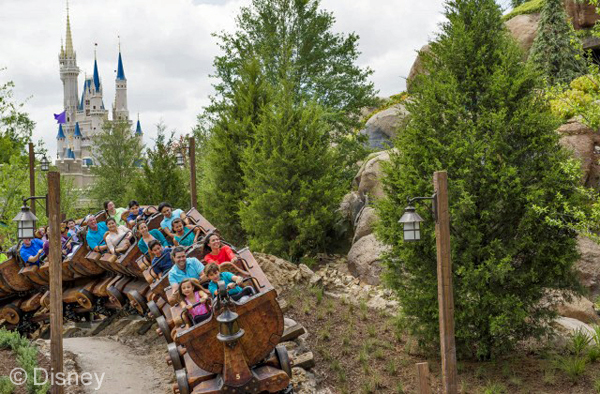 "Seven Dwarfs Mine Train, in the Enchanted Forest of New Fantasyland (Magic Kingdom), is a family coaster inspired by the film classic ""Snow White and the Seven Dwarfs"" that takes Walt Disney World Resort guests into the famous mine, glittering with diamonds, rubies, and other precious gems, where the Seven Dwarfs sing happily as they work."