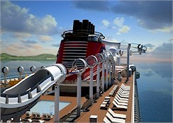 The AquaDuck Pool Slide on Disney's Newest Cruise Ship, the Disney Dream