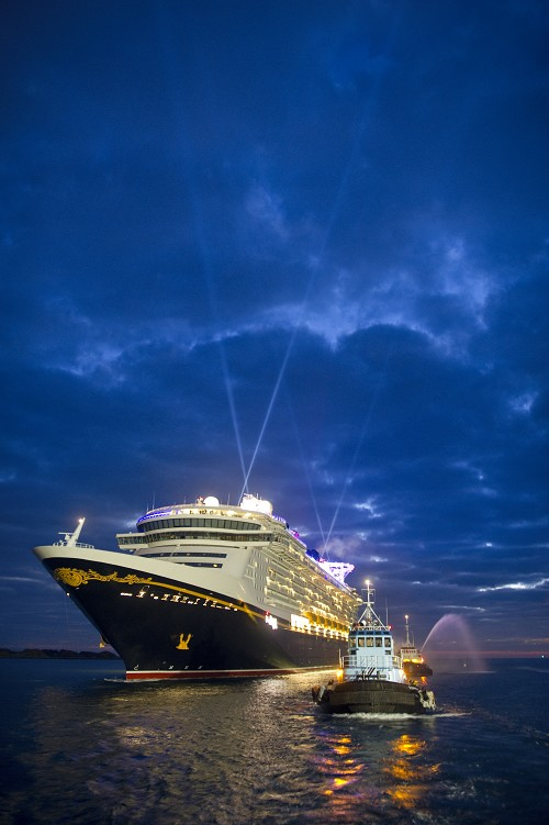 Disney Dream, Disney Cruise Line's newest ship, arrives Jan. 4, 2011 for the first time to her home port of Port Canaveral, Fla.