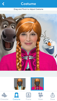 New Disney Parks App Transforms Users into Disney Characters