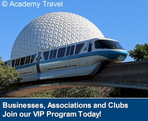 Academy Travel is a Diamond Earmarked Disney Travel Agency - Ask about VIP program today
